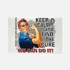 Rosie Keep Calm Brain Cancer Rectangle Magnet