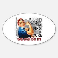 Rosie Keep Calm Brain Cancer Sticker (Oval)
