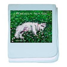 Sealyham Summer Terrier baby blanket