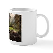 Ceramic Mug with Church by Stream Scene