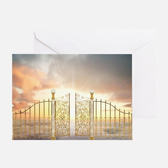 Greeting Card with Pearly Gates Scene