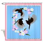 Three Sparrows Shower Curtain