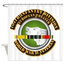 Army - WWII - 104th INF Div Shower Curtain