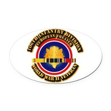 Army - WWII - 106th INF Div Oval Car Magnet