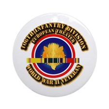Army - WWII - 106th INF Div Ornament (Round)
