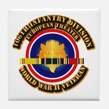 Army - WWII - 106th INF Div Tile Coaster