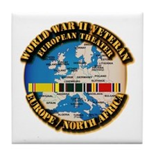 World War II Veteran - Europe Tile Coaster