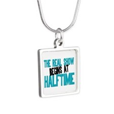 Marching Band Halftime Silver Square Necklace