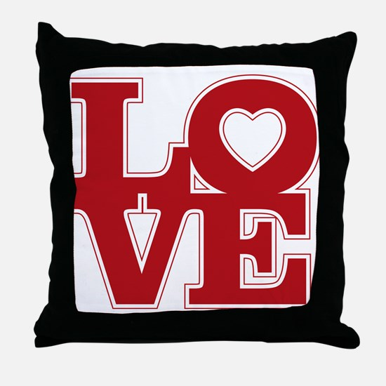 Funny Amor Throw Pillow
