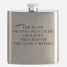 Cute Autograph Flask