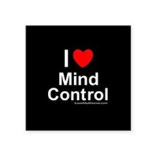 "Mind Control Square Sticker 3"" x 3"""
