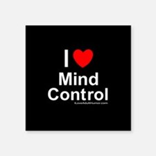"Mind Control Square Sticker 3"" x 3"""