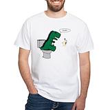 Oh shit Mens White T-shirts
