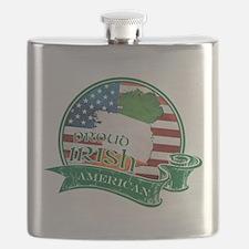 Proud Irish American Flask