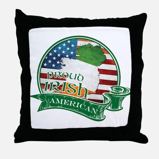 Proud Irish American Throw Pillow