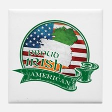 Proud Irish American Tile Coaster