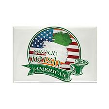 Proud Irish American Rectangle Magnet