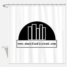 Shelf Inflicted BW Shower Curtain