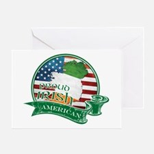 Proud Irish American Greeting Card