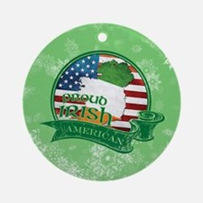 Proud Irish American Ornament (Round)