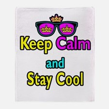 Crown Sunglasses Keep Calm And Stay Cool Throw Bla