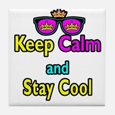 Crown Sunglasses Keep Calm And Stay Cool Tile Coas