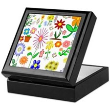 Field of Flowers Keepsake Box