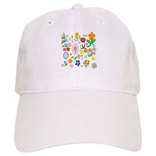 Field of Flowers Baseball Baseball Cap
