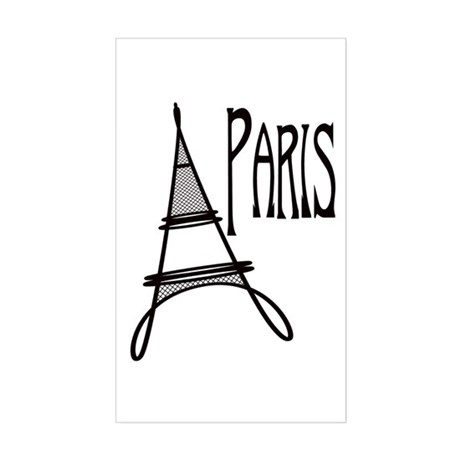Eiffel Tower Paris Rectangle Sticker