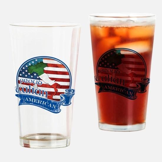 Proud Italian American Drinking Glass