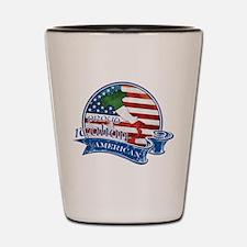 Proud Italian American Shot Glass