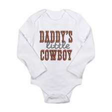 Daddys Little Cowboy Long Sleeve Infant Bodysuit