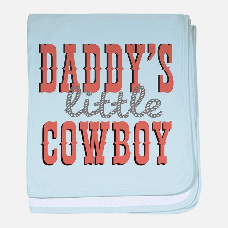 Daddys Little Cowboy baby blanket