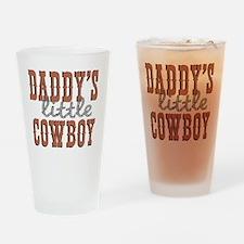 Daddys Little Cowboy Drinking Glass