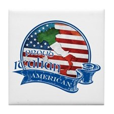 Proud Italian American Tile Coaster