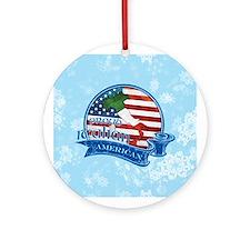 Proud Italian American Ornament (Round)