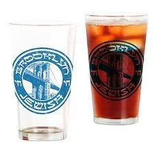 Brooklyn New York Jewish Drinking Glass