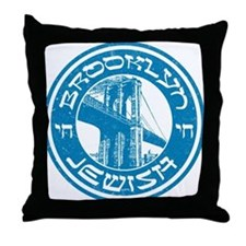 Brooklyn New York Jewish Throw Pillow