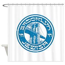 Brooklyn New York Jewish Shower Curtain