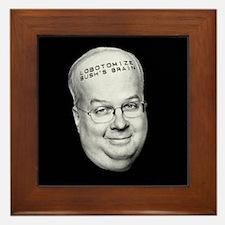 Lobotomize Bush's Brain Framed Tile