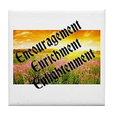 Encouragement Enrichment Enlightenment Tile Coaste