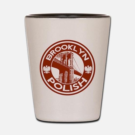 Brooklyn New York Polish Shot Glass