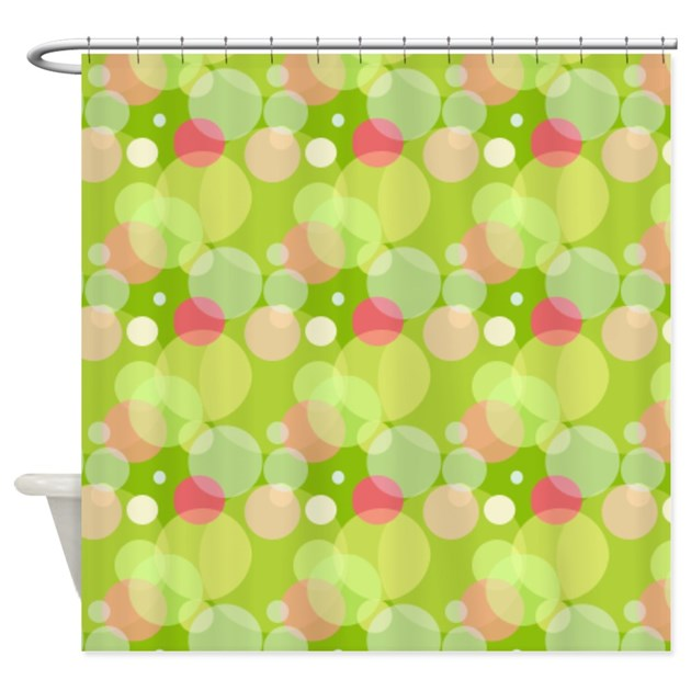 green and pink bubbles shower curtain by cheriverymery. Black Bedroom Furniture Sets. Home Design Ideas