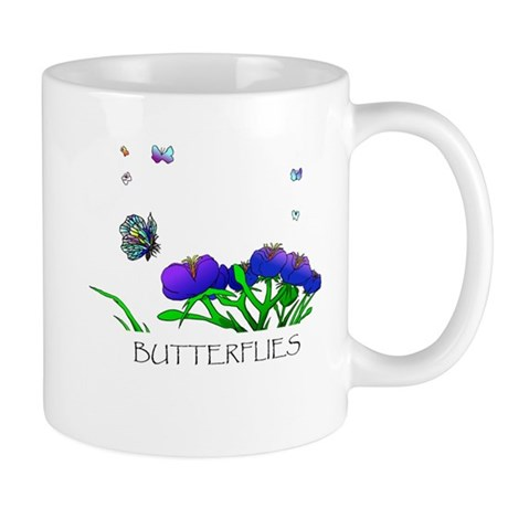 Butterflies and Flowers Mug