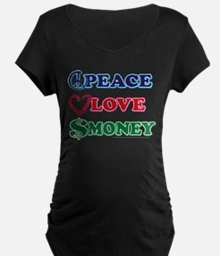 Wall Street/Peace Love Money T-Shirt