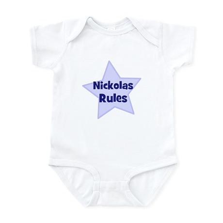 Nickolas Rules Infant Bodysuit