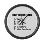requests.jpg Large Wall Clock