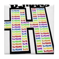DJ Hans Logo 07 A Tile Coaster