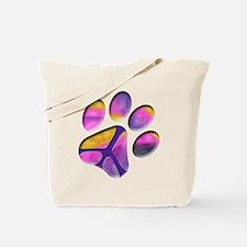 Peaceful Paw Print Tote Bag