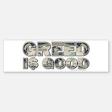 Wall Street/Greed is Good Sticker (Bumper)